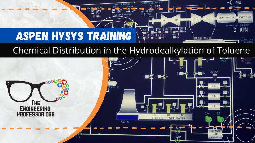 Aspen HYSYS: Chemical Distribution in the Hydrodealkylation of Toluene